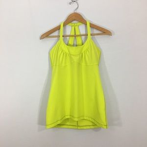 LULULEMON Scoop Me Up Vibrant Ray Halter Tank Top